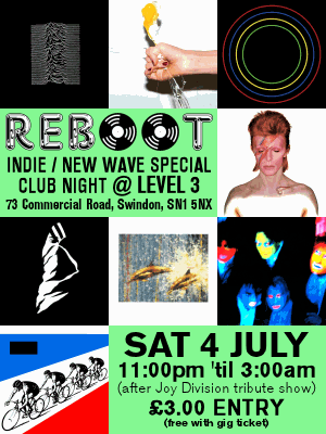 REBOOT Indie / New Wave speccial poster